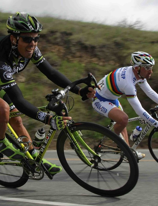 Rock Racing's Victor Hugo Pena in the Tour of California.