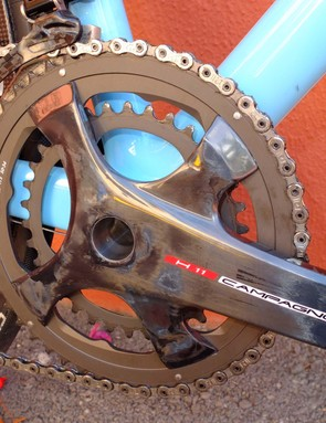 A new disc frame-specific crankset will be needed, and this H11 carbon model covers every disc groupset above Potenza