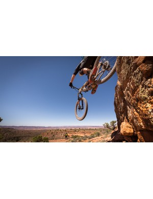 Sending drops is easy on a stiff frame with plush suspension