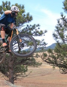 Boosting trail obstacles like this would wreck bikes and components from just a few years back