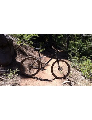 Steep head angle, seat up, bars low, skinny tires, now that's the silhouette of a race whip