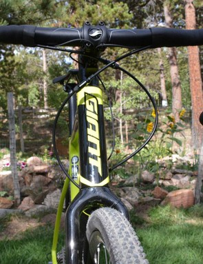 Giant's unique OverDrive2 head tube provides steering prowess