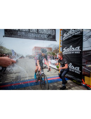 Panaracer/Stan's NoTubes rider Mat Stephens was the first across the line