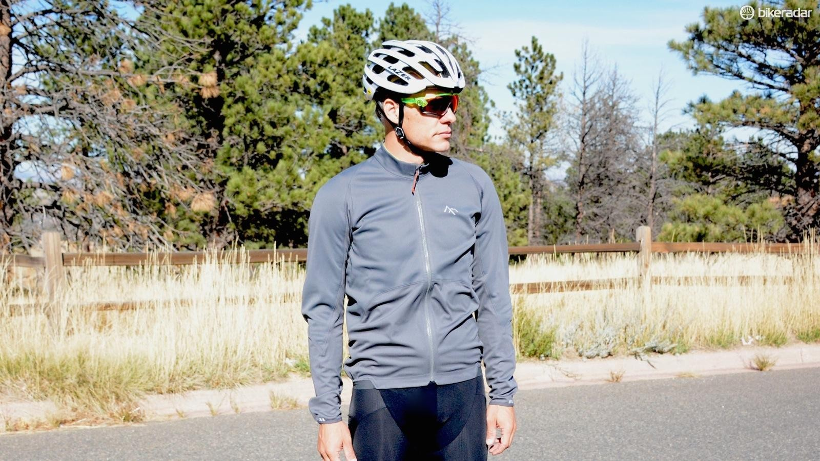 The Strategy Jacket with a Gore WindStopper exterior has a looser fit