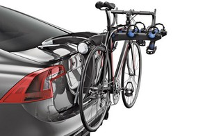 Trunk racks are the easiest and least expensive option, but also the least secure