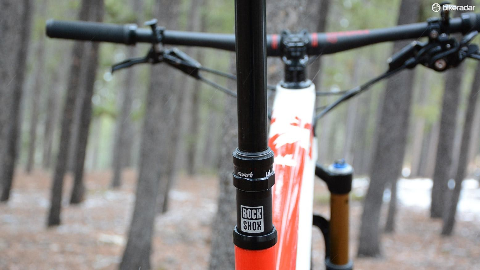 XC is getting fun, a RockShox Reverb Stealth comes stock