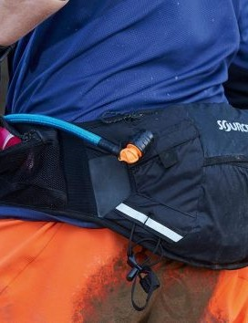 Hip packs are ideal for short rides