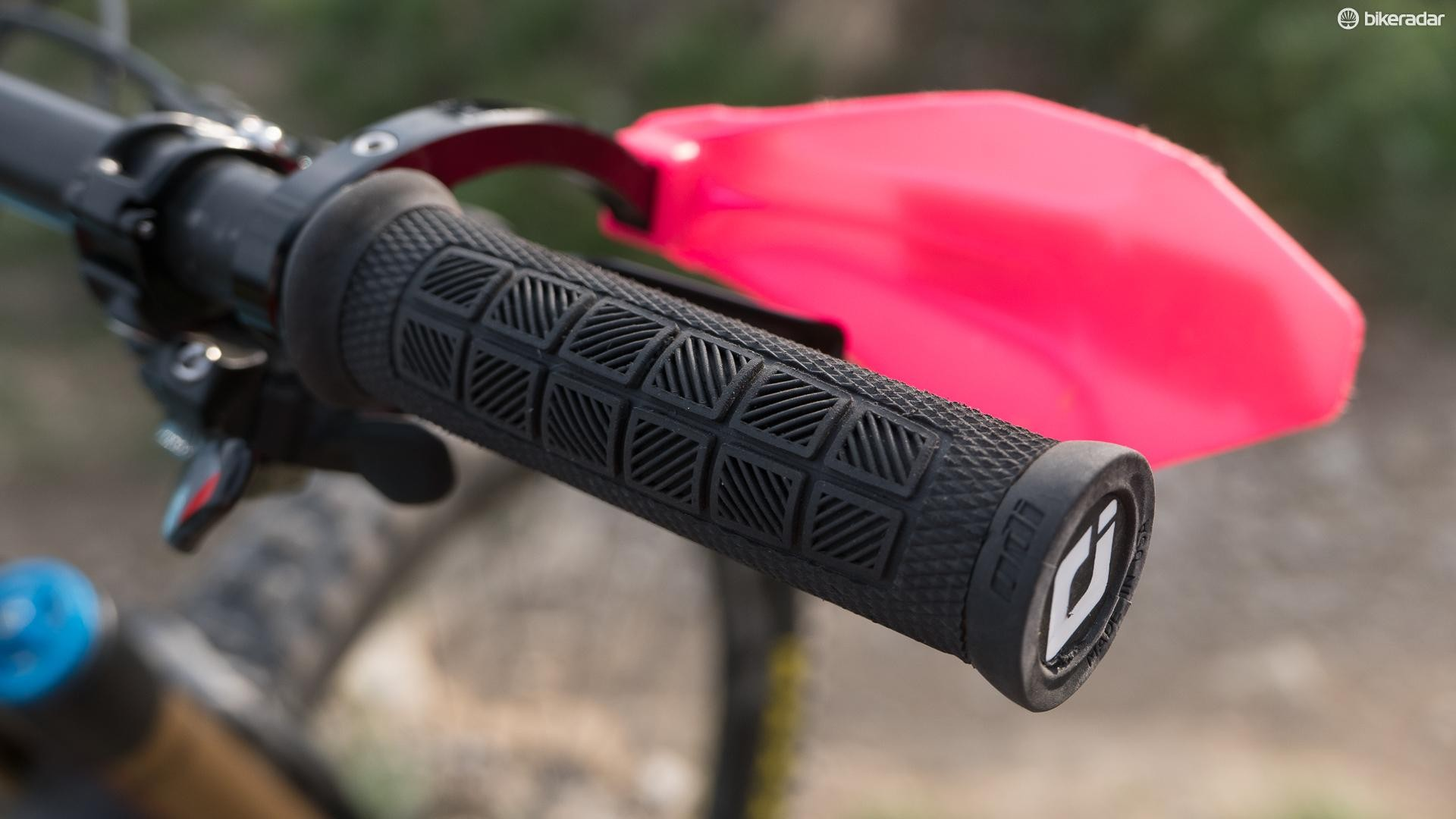 …and Valentina's thicker ODI Pro grips
