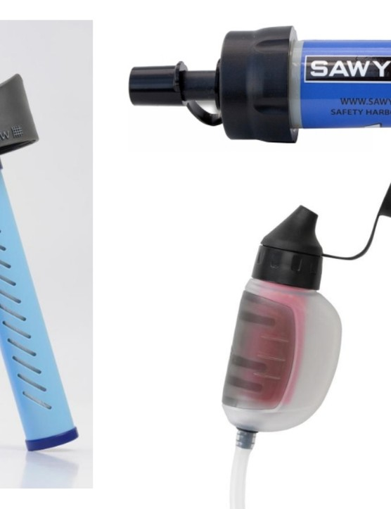 A portable water filter lets you drink from streams safely