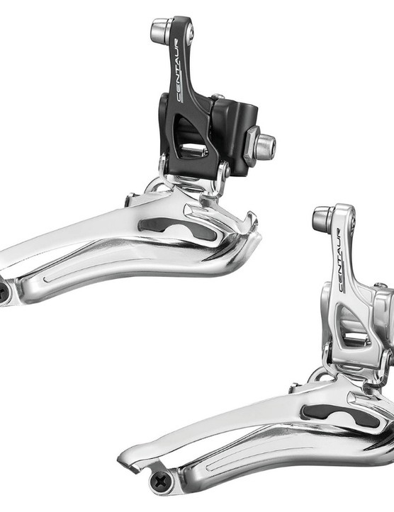 ...and a black and silver front derailleur