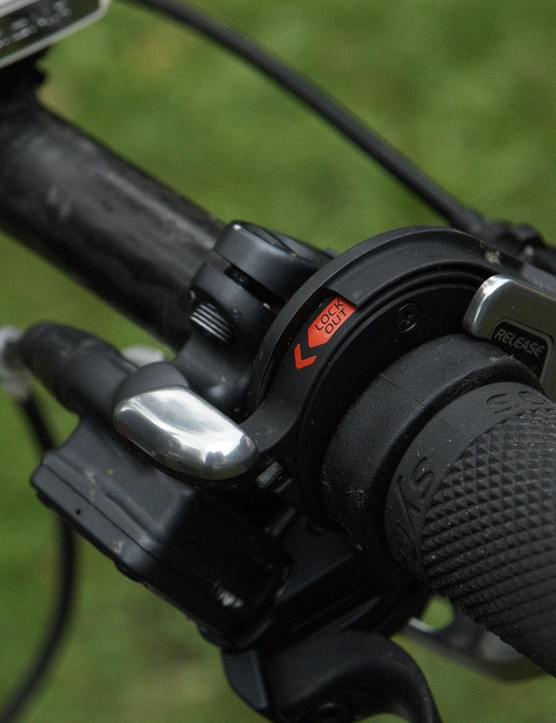 The lockout lever is designed and manufactured for Fox by Shimano.