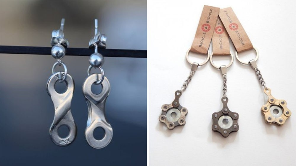 Everyone loves an upcycled bike chain