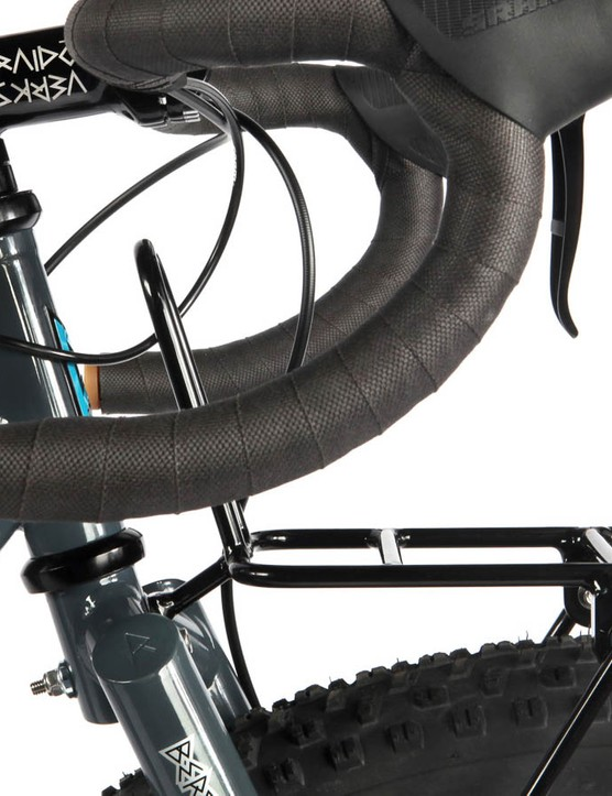 The handsome looking porteur racks will be available separately