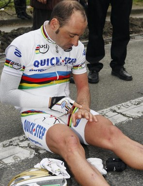 World road champ Paolo Bettini would like to spend more time on then off the bike.