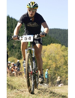 Dellys Starr is one of two mountain bikers in the team