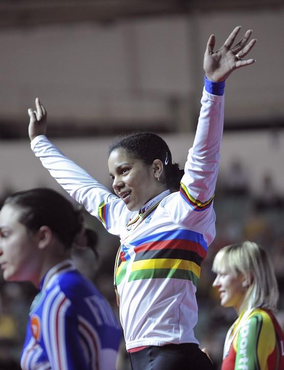 Lisandra Guerra Rodriguez celebrates