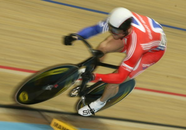 Britain's Chris Hoy in Manchester.