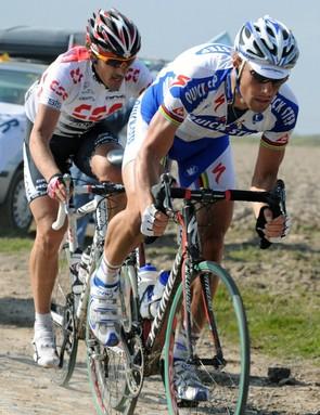 Boonen and Cancellara battle it out