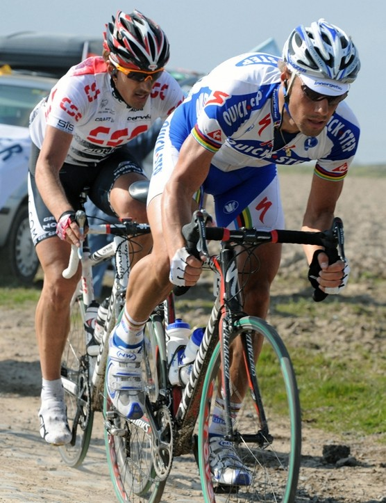 Boonen and Cancellara battle it out