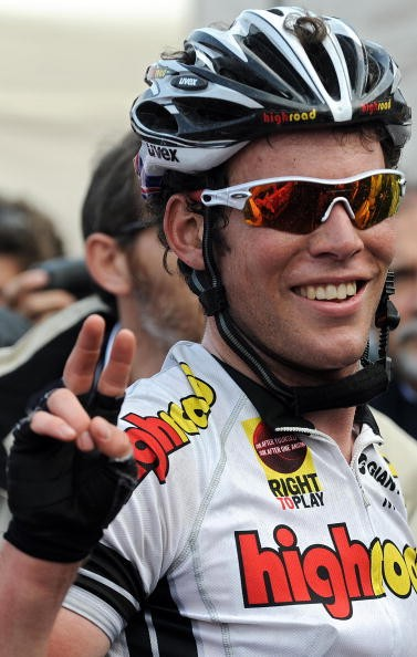 Mark Cavendish is all smiles after winning stage 13 of the '08 Giro.