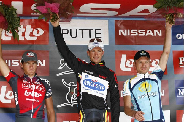 Devolder (C) handily won the '08 Tour of Belgium.