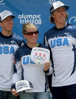 Beijing bound: Kyle Bennett, Jill Kintner and Mike Day.