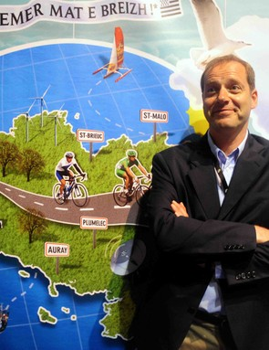 Tour boss Christain Prudhomme produces map of planned drug raids in the 2008 Tour.