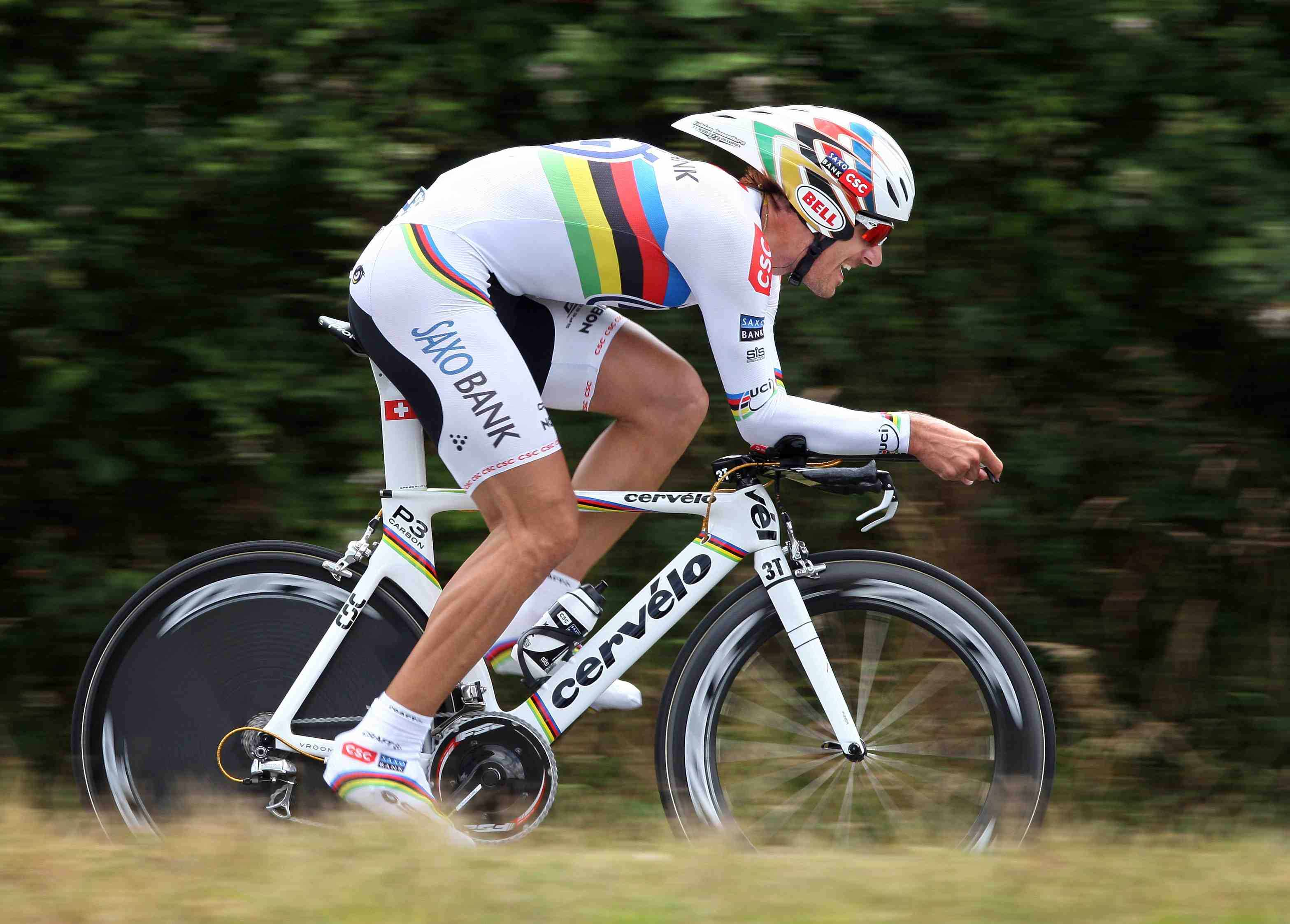 Reigning world time trial champ Fabian Cancellara finished fifth in France today.