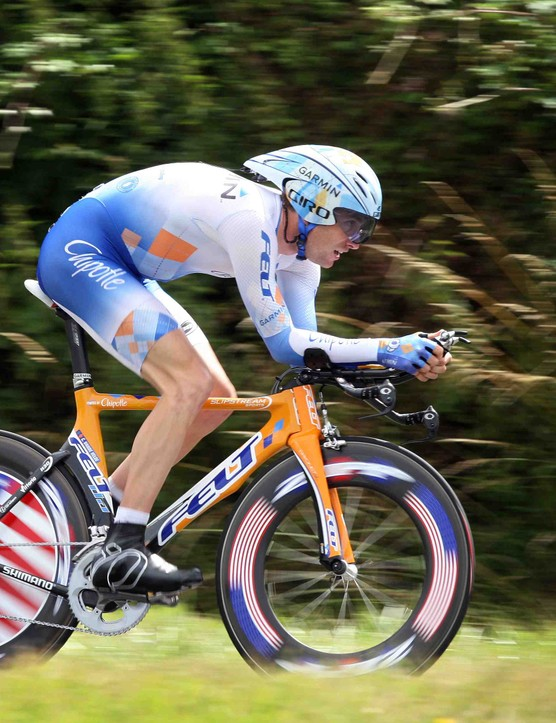 Vande Velde during the first Tour time trial in July.