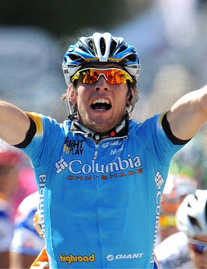 Mark Cavendish in winning mode at the 2008 Tour de France
