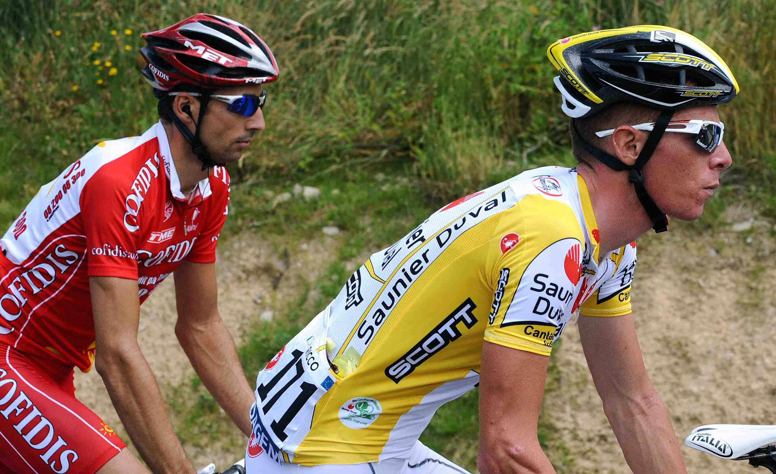 Frenchman David Moncoutie (L) may take up where Riccardo Ricco left off, with a stage win this weekend.