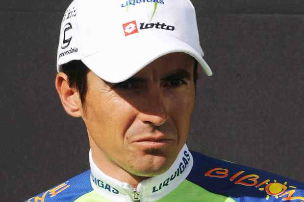 Liquigas racer Manuel Beltran on July 10, 2008.