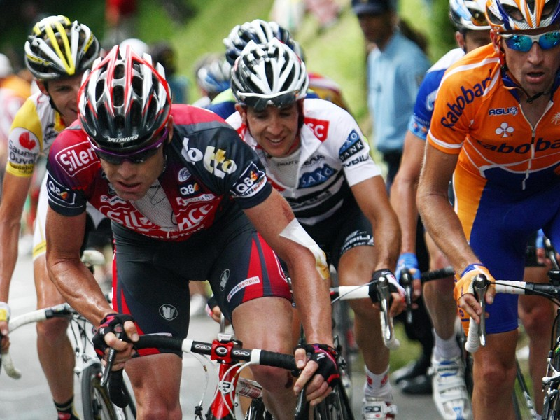 Cadel Evans stayed with almost all the danger riders during stage 10
