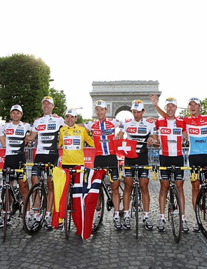 Team CSC were the best team in the Tour