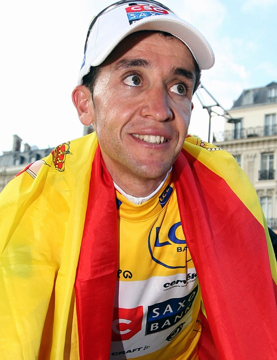 A happy Carlos Sastre