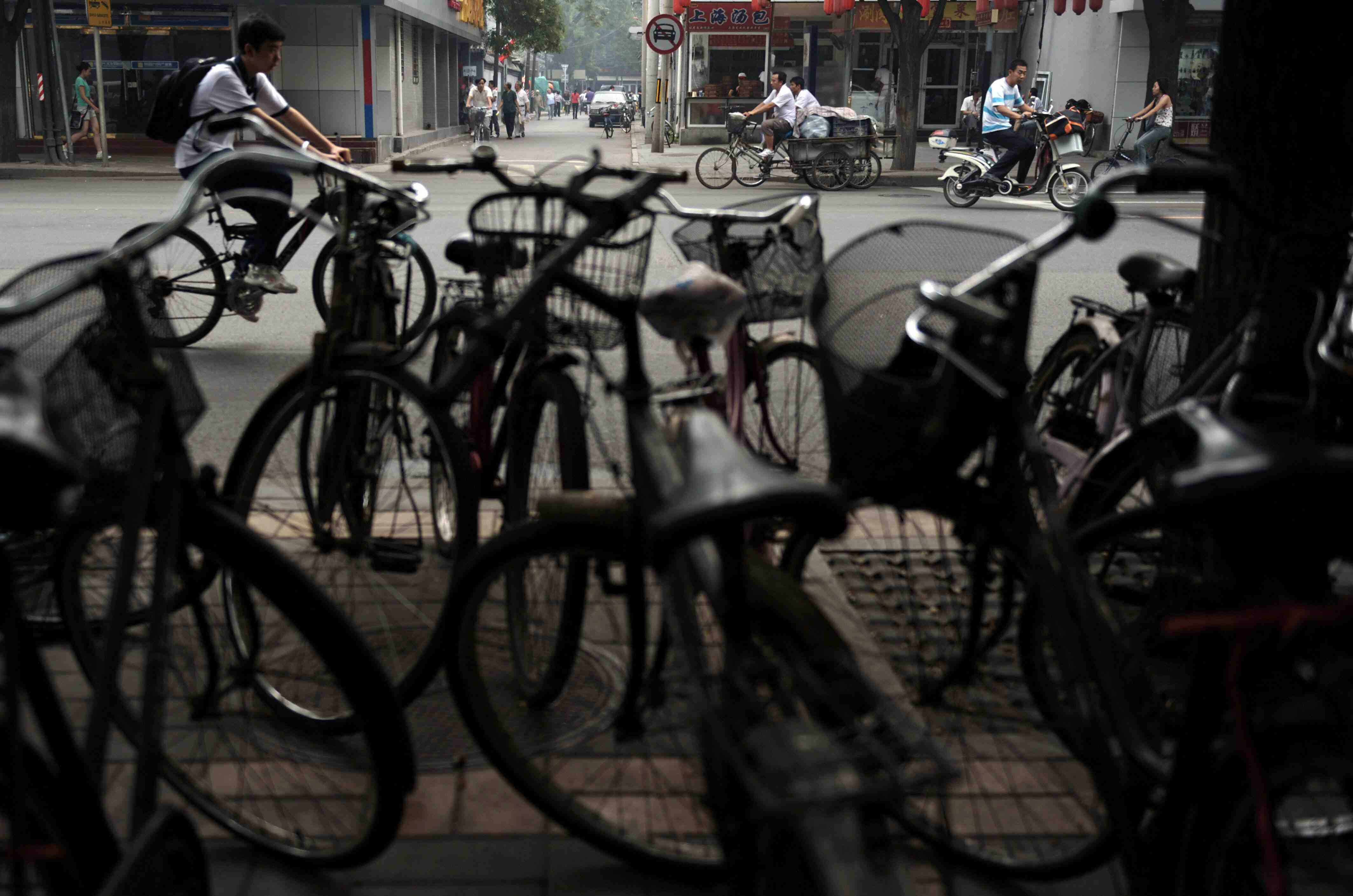 Bicycles are everywhere in Taiwan City - much to the chagrin of the Taiwanese government.