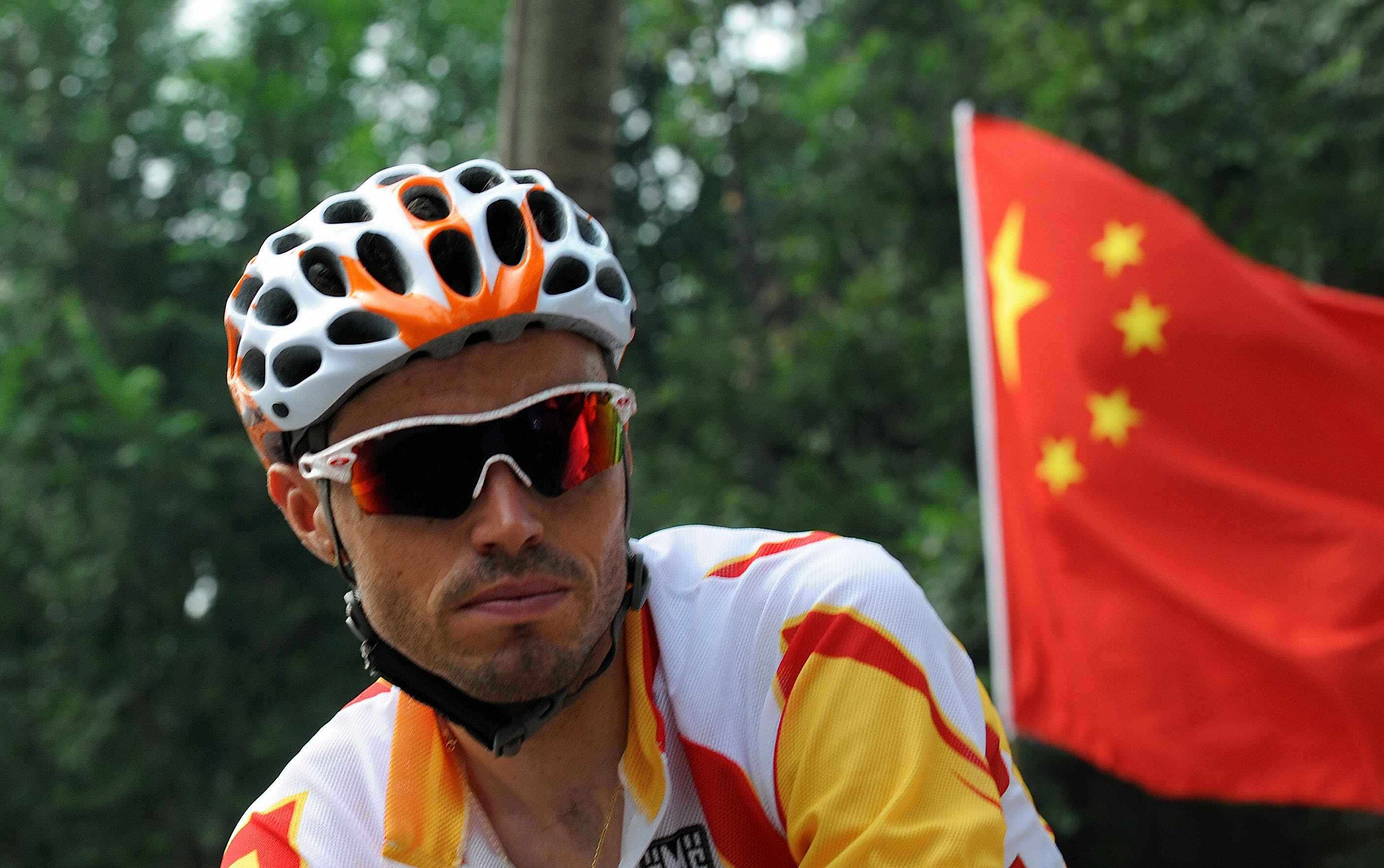 Olympic men's road gold medalist Samuel Sanchez.