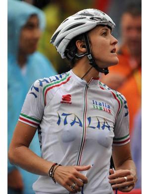 Italy's Vera Carrara after the women's road race.