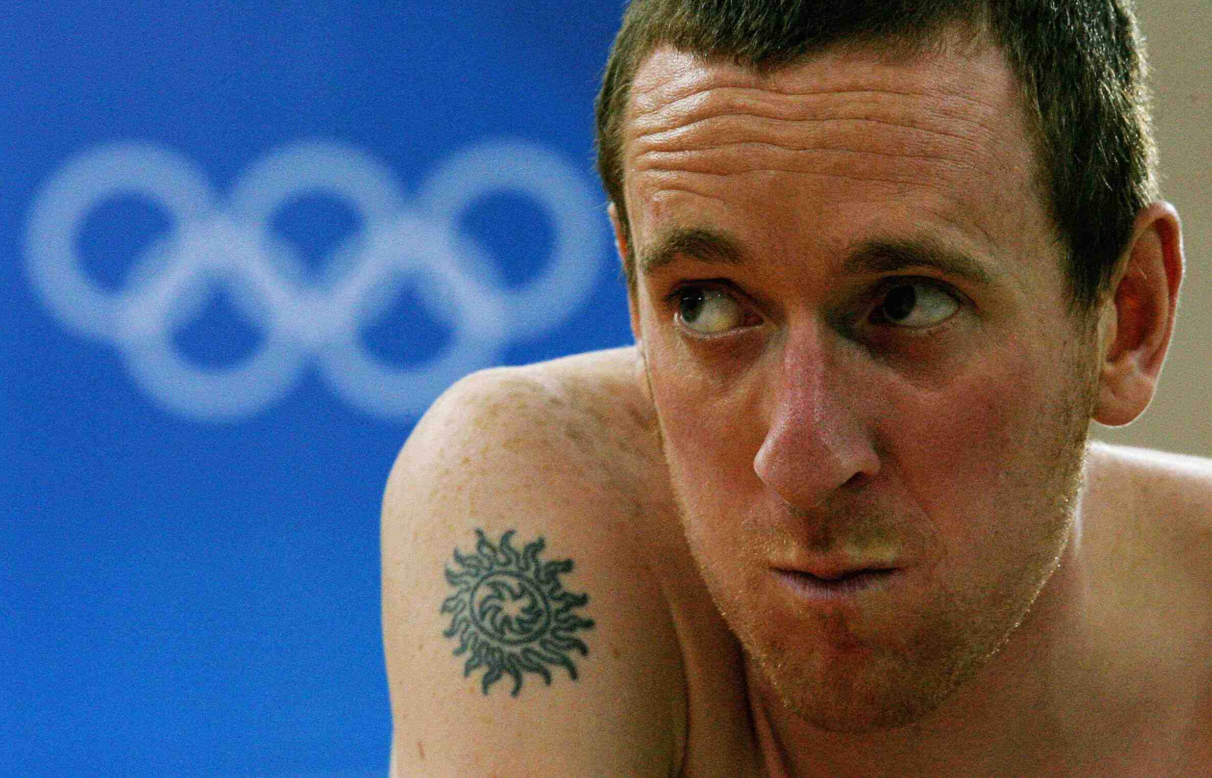 Britain's road and track sensation Bradley Wiggins warms up in Beijing recently.