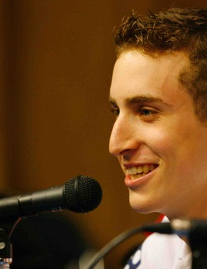 American track phenom, teenager Taylor Phinney.