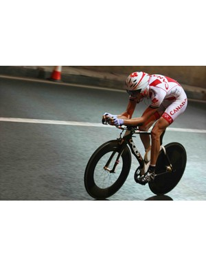 Canadian Ryder Hesjedal in the men's time trial.