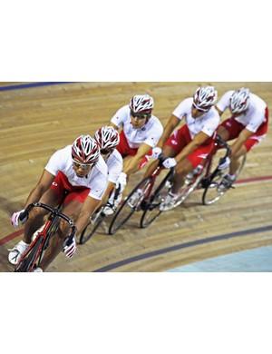 Japan's track team stays tight.