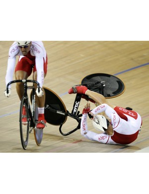 Poland came to grief in the team sprint