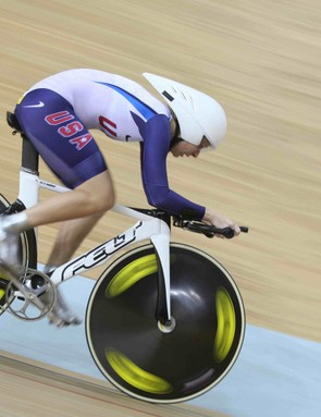 Sarah Hammer has Monday's points race left for a shot at medalling in Beijing.