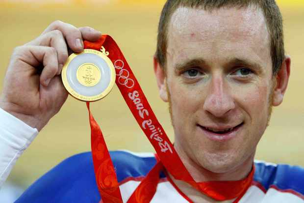 Bradley Wiggins was all smiles in Beijing.
