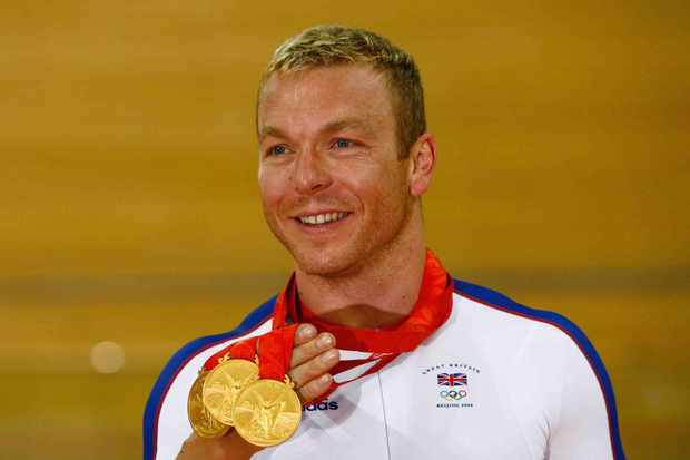 Great Britain's Chris Hoy, three-time Beijing gold medalist.