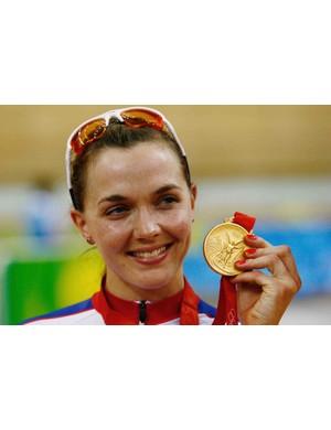 A very happy Victoria Pendleton.