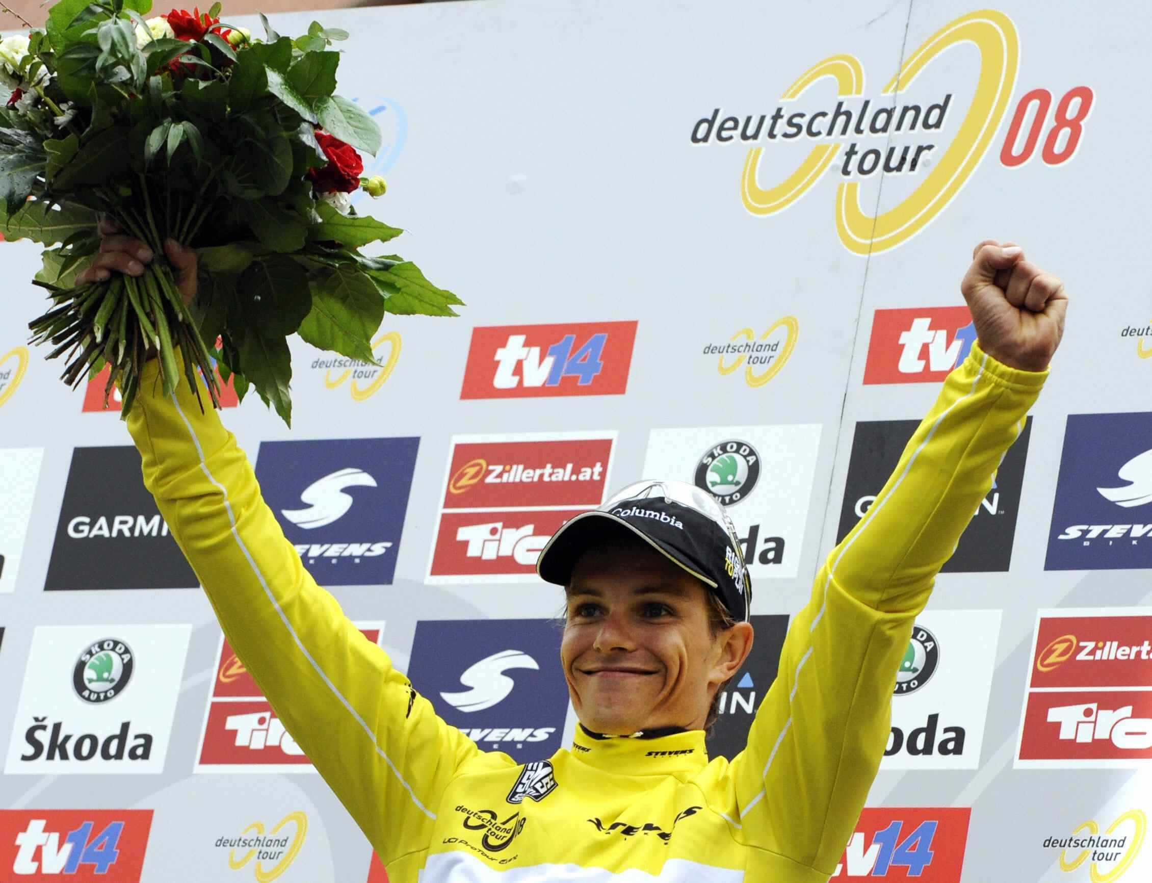 German cyclist Linus Gerdemann won the 2008 Tour of Germany for Team Columbia.