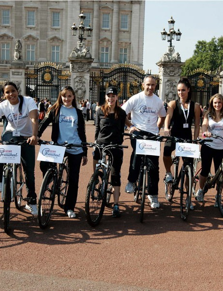 Olympic medallists joined the public for this year's London Freewheel.