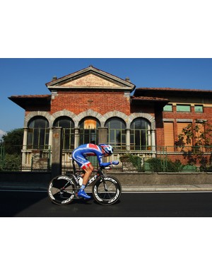 David Millar in action in Varese